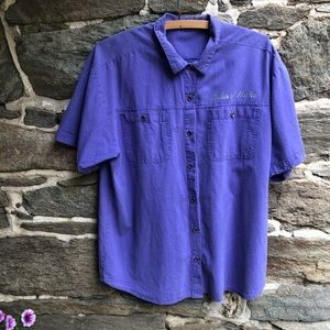 Ladies of Harley Purple Button Down Extra Large